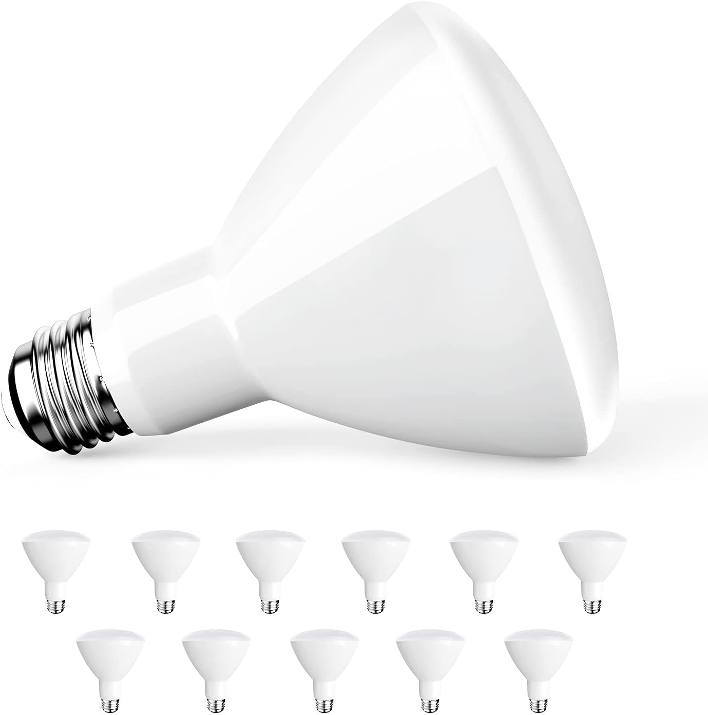 Amico 12 Pack BR30 LED Max 89% OFF Bulb 9W=65W White Ranking TOP9 LM 650 2700K E2 Soft