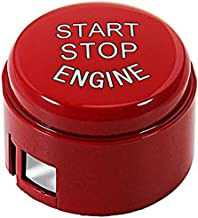 TOOGOO Engine Start Stop Button Push Button Ignition Switch Cover Replacement for BMW 5 6 7 F01 F02 F10 F11 F12 2009-2013 Without Off Button Red