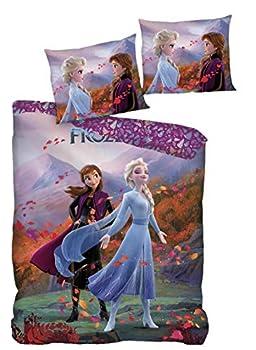 AYMAX S.P.R.L Frozen 2 Children s Bed Linen Set Duvet Cover 140 x 200 cm + Pillowcase 63 x 63 cm