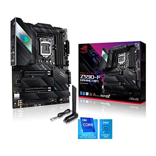 ASUS ROG STRIX Z590-F GAMING WIFI, Scheda madre Gaming Intel Z590 ATX, PCIe4.0, 14+2 fasi, tecnologie AI, WiFi 6E (802.11ax), Intel Lan 2.5 Gb, 4x M .2 slot, USB3.2 Gen2x2 USB TypeC, Aura Sync RGB