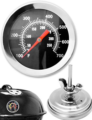 HomeTools.eu - Termómetro analógico resistente a la temperatura para barbacoa, barbacoa, termómetro de cocina para ahumar, para reequipar ollas de barbacoa, asador, horno para ahumar, 10 °C – 350 °C.