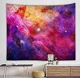 Tapiz de galaxia romántico colgante de pared mandala cielo estrellado tapiz psicodélico dormitorio decoración tapiz tela de fondo A15 180x200cm