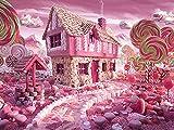 5D DIY diamante pintura completo redondo cuadrado dibujos animados paisaje bordado de diamantes venta caramelo casa mosaico telón de fondo A4 60x80cm