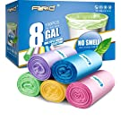 8 Gallon/150pcs Medium Trash Bags, FORID Colorful Clear Garbage Bags, Extra Strong Rubbish Bags for Home, Office, Car/30 Liter/5 Rolls