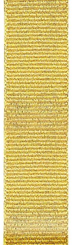 Offray Metallic Grosgrain Craft Ribbon, 5/8-Inch Wide by 10-Yard Spool, Gold