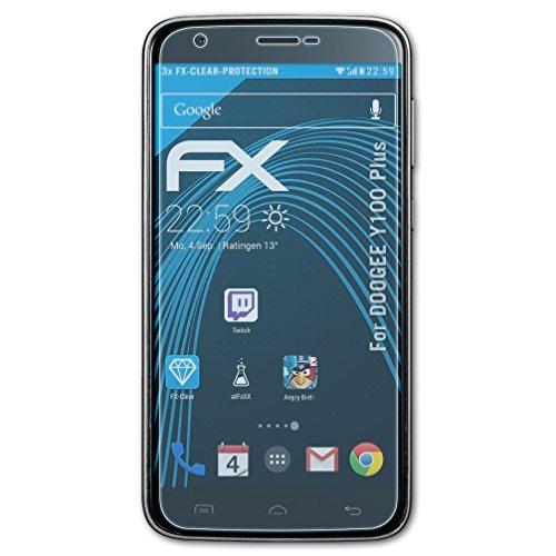 atFolix Schutzfolie kompatibel mit DOOGEE Y100 Plus Folie, ultraklare FX Bildschirmschutzfolie (3X)