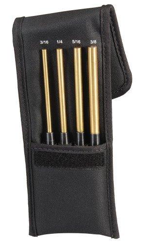 Starrett SB248Z Extended Length Brass Drive Pin Punch 4-Piece Set, 3/16