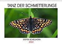 TANZ DER SCHMETTERLINGE (Wandkalender 2022 DIN A3 quer): Atemberaubende Tagfalterfotos des Fotografen Steffen Schellhorn (Monatskalender, 14 Seiten )