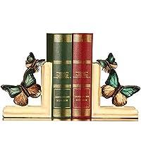 ブックエンドの装飾、創造的なレトロな蝶の樹脂製の本棚、手工芸家具による本、机の装飾12 * 6 * 16CM