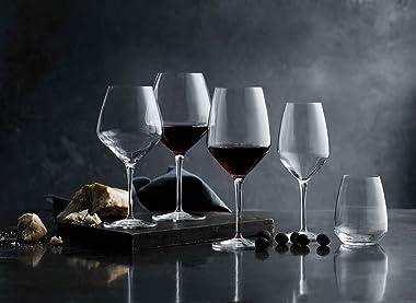 Luigi Bormioli 10291/02 Atelier Stemless Cabernet 670ml, Durable Wine Glass, Lead Free Crystal Wine Tumbler, Italian aerating