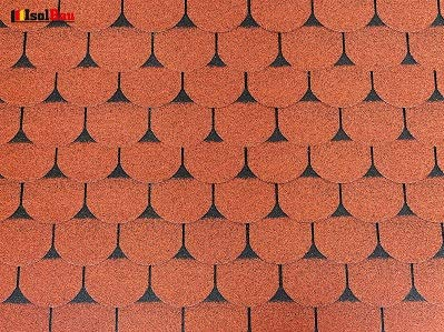 Isolbau Dachschindeln Biberschindeln 1 m² Ziegelrot (7 Stk) Schindeln Dachpappe Biberschindeln Bitumenschindeln Gartenhaus Vogelhaus Holz Kaninchenstall Betonsäulenüberdeckung Hundehütte