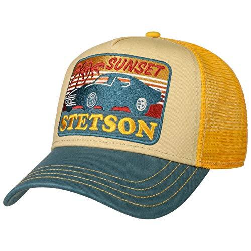 Stetson Sunset Trucker Cap Truckercap Meshcap Basecap Baseballcap Herren - Snapback, mit Schirm, Schirm Frühling-Sommer Herbst-Winter - One Size gelb