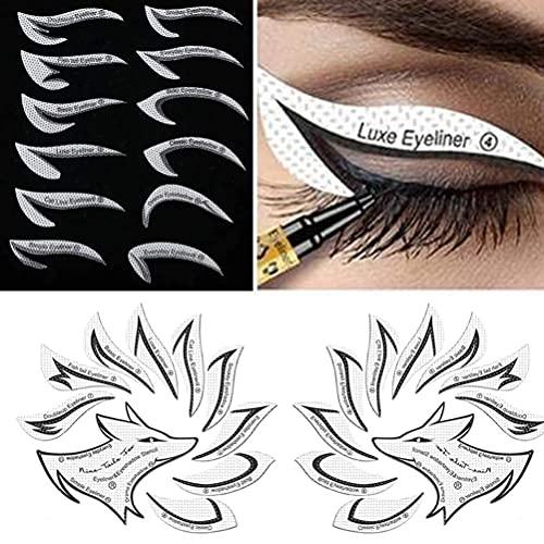 Pppby 3 Packungen Augen Make-up Vorlage Aufkleber Leicht Augen Make-up-Tool Eyeliner Make-up-Werkzeug Perfekt für Augen Make-up Schablone