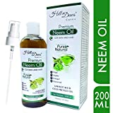 HillDews Neem Oil 200ml Pure Natural Unrefined Cold Pressed For Skin and Hair
