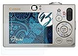 Bruni Schutzfolie kompatibel mit Canon Digital IXUS 70 Folie, glasklare Displayschutzfolie (2X)