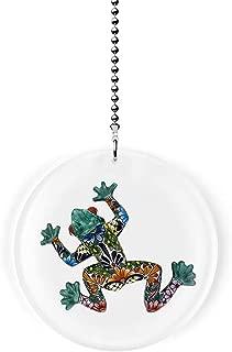 Mexican Talavera Design Frog Fan/Light Pull