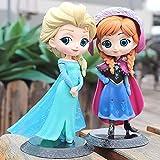 Frozen Elsa Anna Princess Figures PVC Model Doll, Action Collection Figurine Toy Model para Niños Regalo 2Pcs