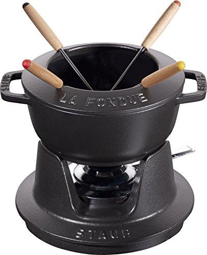Staub 40511-970-0 Fondue 1.1L 4personas(s) fondue, gourmet y wok - Accesorio de cocina (Negro, 167 mm, 217 mm, 84 mm, 1,8 kg)