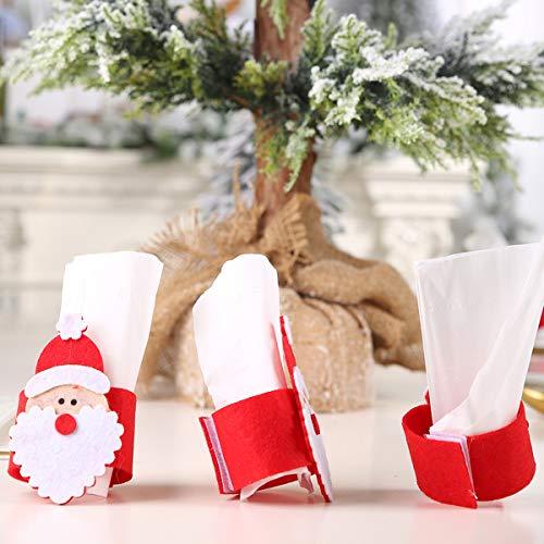 ExcLent Weihnachten Santa Gürtel Stoff Handtuch Ring Handwerk Ornamente Dekor Serviette Weihnachtsbaum Dekoration