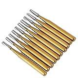 Fresas de corte de metal de alta velocidad para corona de acero al tungsteno dental, 10 unidades/set