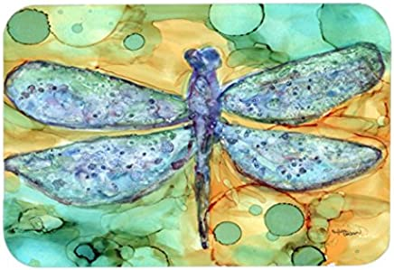 "Caroline's Treasures 8967LCB""Abstract Dragonfly"" Glass Cutting Board, Large, Multicolor"