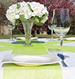AmaCasa Vlies Tischläufer Apfelgrün 23cm/25 Meter Flower Vlies Tischband Hochzeit Kommunion - 6