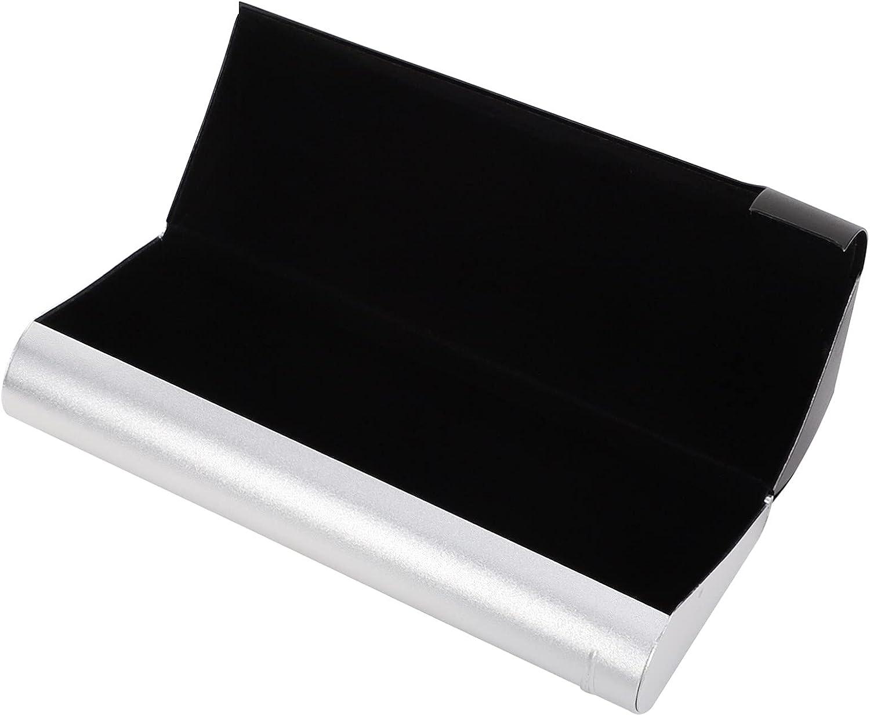 EXCEART 1 Pcs Aluminum Eyeglass Case Sunglass Case Sturdy Eyeglass Case Eyeglass Storage Container (Black)