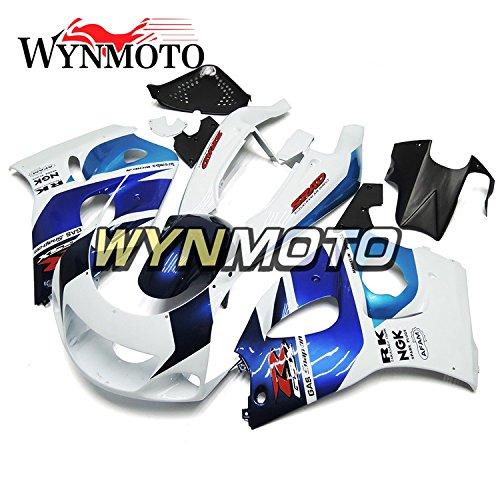 WYNMOTO 1996 1997 1998 1999 ABS Plastic White Blue Motorcycle Fairing Kit For Suzuki GSX-R 600-750 GSXR600 GSXR750 Sportbike Bodywork
