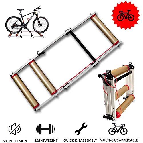 Inklapbare fietstrainer voor indoor-oefeningen, intrekbaar roldeken, roller-deken, fitness, wielrennen, trainer, MTB, op de weg, voor de hometrainer.