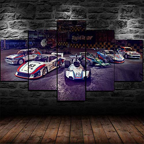 5 piezas de lienzo de arte de pared Lienzos Cuadros Impresos Carreras de carreras de carreras Artística Imagen Gráfica Wall Art Panel Cuadros Modernos Decorativo para Tu Salón o Dormitorio
