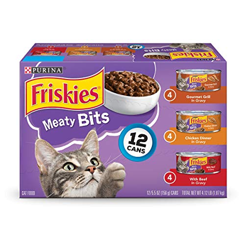Purina Friskies Meaty Bits Adult Wet Cat Food Variety Pack - (2 Packs Of 12) 5.5 Oz. Cans