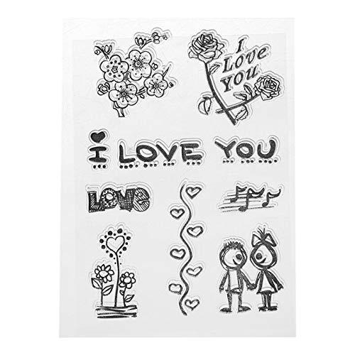 Ik hou van je bloem siliconen duidelijke zegel stempel DIY Scrapbooking reliëf foto album decoratieve papieren kaart ambacht kunst handgemaakte gift