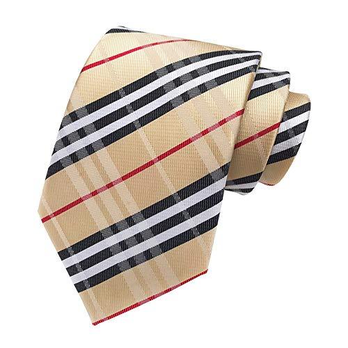 ZPSPZ cravatta gli uomini la cravatta di abito scozzese con serie di fili di poliestere,k