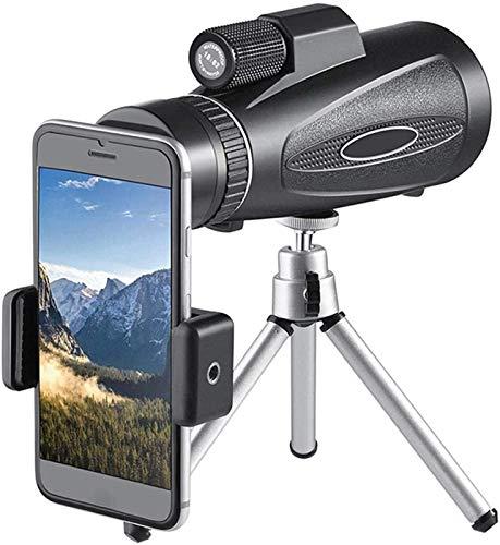 TEPET Monokular 18X62 Handfokus-Teleskop, wasserdichte BAK4 Prisma-Glaslinsen mit Smartphone-Adapter-Stativ, Zum Vogelbeobachten