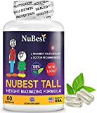 NuBest Tall - Powerful Growth Formula - Natural Bone Strength Support - Healthy Growth Supplement - for Children (5+) and Teenagers Who Don't Drink Milk Daily - 60 Capsules