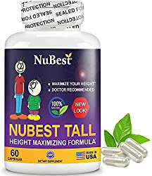professional NuBest Tall 60 Capsules – Formulation for Maximum Natural Height Growth – Plant-Based Tablets with Best Growth – Growth…
