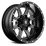 Fuel Offroad D538 MAVERICK BLACK Wheel with Matte Milled Accents and tpms (20 x 10. inches /6 x 135 mm, -24 mm Offset)