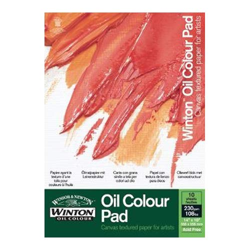 Winsor & Newton Ölmalblock, 10 Blatt Ölpapier mit Leinwandtextur, 230g/m² -  DIN A3