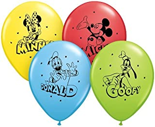 Pioneer Party Group Officially Licensed Disney 12-Inch Latex Balloons, Mickey and Pals Assorted Colors, 6-Count