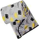 DC Comics Unisex Childrens' Soft Baby Batman Plush BlanketGrey/Black/Yellow 0-12 Months
