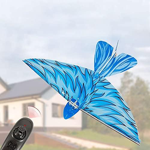 Klobvtt Giocattolo volante telecomandato per uccelli volanti, aereo RC 2.4G, drone di decollo della velocità di controllo con una chiave, giocattolo radiocomandato con rotazione a 360 °, regali per co