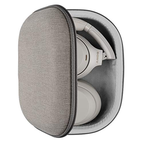 Geekria UltraShell Kopfhörer-Hülle, kompatibel mit Sony WH-1000XM4, WH-1000XM3, WH-1000XM2, WH-XB900N Hülle, Ersatz Hartschale Reisetasche mit Kabelaufbewahrung (Hellbraun)