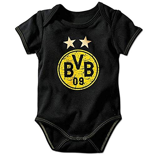 Borussia Dortmund BVB Babybody Emblem, Schwarz, 50/56