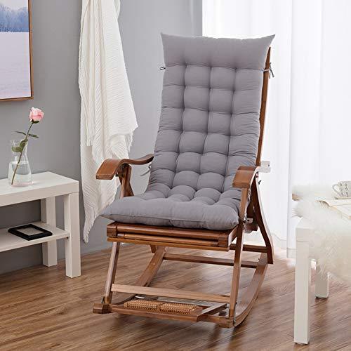 FLIPS Doux Patio Chaise Transat Coussins,Épais Pliage Chaise à Bascule Canapé Coussin,Extérieur Intérieur Sun Lounger Inclinable Piscine De Jardin Coussins(Pas De Chaise) Gris 48x120cm(19x47inch)