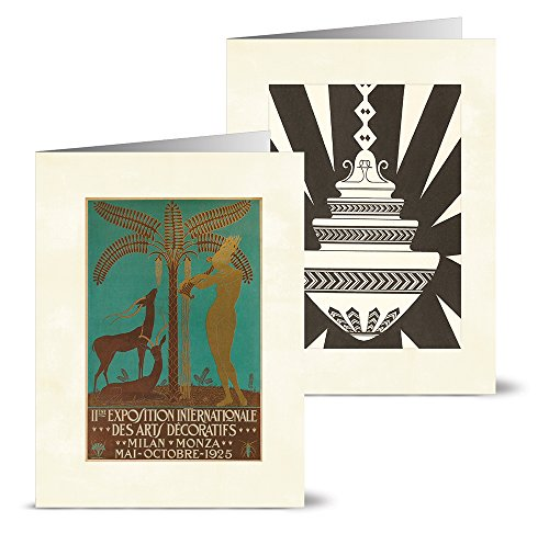 Note Card Cafe All Occasion Greeting Card Set with Envelopes   36 Pack   Blank Inside, Glossy Finish   12 Vintage Art Deco Designs   Bulk Set for Greeting Cards, Occasions, Birthdays