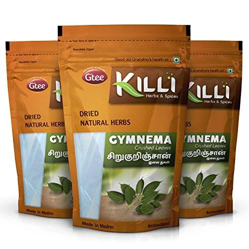 KILLI Gymnema sylvestre   Sirukurinjan   Madhunashini   Gurmar Leaves Crushed, 100g (Pack of 3)