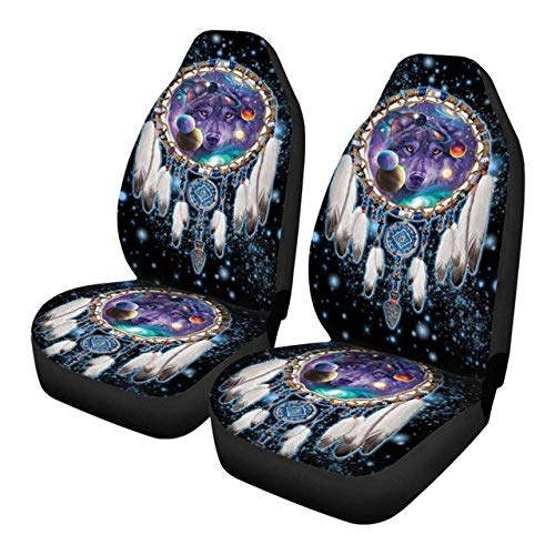weiqiang Universal Car Front Seat Covers Slip-resistant Vehicle Seat Cushion Car Interior Covers 47.5 * 75.5 * 49.5cm 16