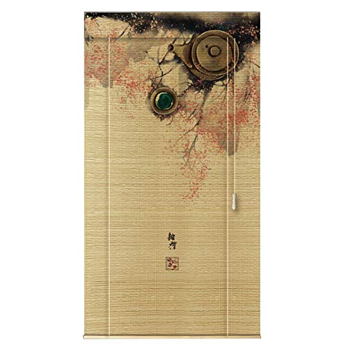 YILANJUN Personalizable Estores de Bambú,Natural,Persiana Puerta Enrollables Cortina Manual/Eléctrica,Muy Utilizado (Opción Multiple)