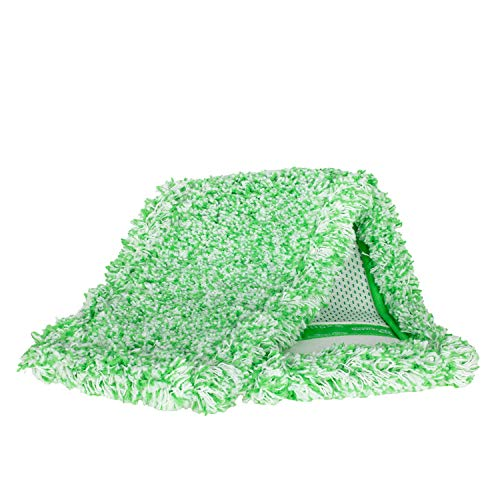 Jemako Bodentuch Wischbezug Bodenwischer, Boden-Faser Grün Lang 42cm, für alle wasserbeständigen, glatten Böden für Fliesen, Natursteine, fusselfrei