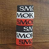 21MM Smok Logo Silicone Tank Band Protective Bumper Rings Bands (Mix & Match, 4-Pack)